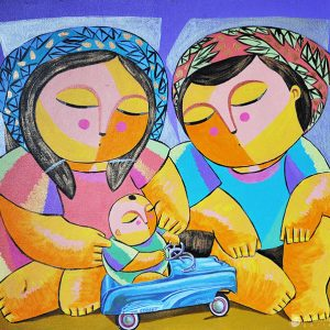Code: 17016 Title: Family Size: 24x27in Medium: Oil on Canvas