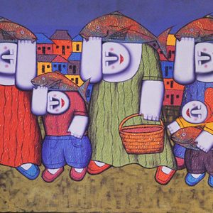 Code: 17121 Title: Fishport Size: 24x42in Medium: Oil on Canvas