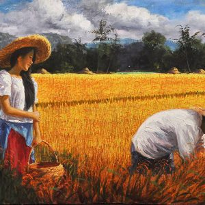 Code: 17249 Title: Awit 107:1 Size: 17x48in Medium: Oil on Canvas