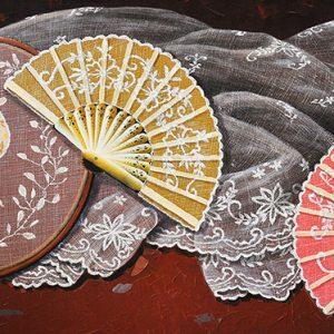 Code: 18137 Title: Abanico de Callado Size: 24x48in Medium: Acrylic on Canvas