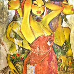 Code: 18252 Title: Tres Marias Medium: Acrylic on Canvas Dimension: 36in x 48in