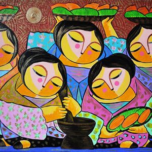 Code: 18293 Title: Kakaning Saging Size: 24x48in Medium: Oil on Canvas