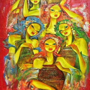 Code: 18667 Title: Muses Medium: Acrylic on Canvas Dimension: 30in x 40in