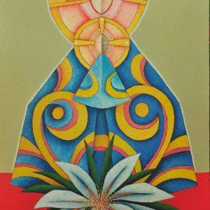 Code: 18761 Title: Virgin Mary Medium: Oil on Canvas Dimension: 36 x 24 in