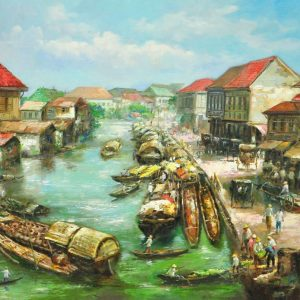 Code: 18803 Title: Pier Medium: Oil on Canvas Dimension: 30in x 40in