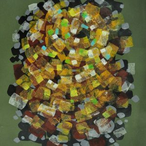 Code: 18902 Title: Koleidoscope Series (Green) Size: 22.5 x 30 in Medium: Mixed Media