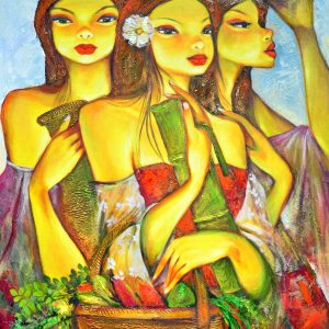 Code: 18916 Title: Tres Marias Medium: Acrylic on Canvas Dimension: 30in x 40in