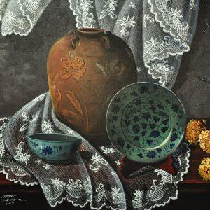 Code: 18939 Title: Banga Size: 24x30in Medium: Acrylic on Canvas