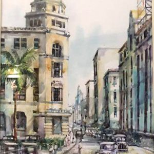 Code: 18972 Title: Old Manila Medium: Watercolor on paper Dimension: 11in x 17in
