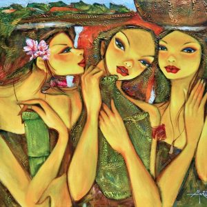 Code: 18987 Title: Tres Marias Medium: Oil on Canvas Dimension: 40in x 30in