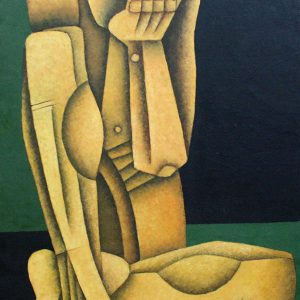 Code: 19004 Title: Seated Figure Medium: Oil on Canvas Dimension: 20in x 30in