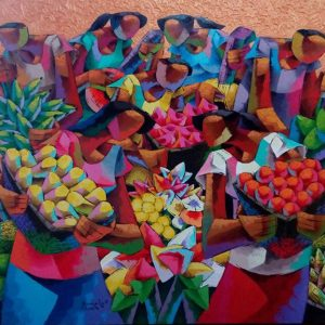 Code: 19050 Title: Fruit Harvest Size: 48 x 60 inches Medium: Acrylic on Canvas