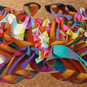 Code: 19078 Title: Flower Picker Size: 36 x 60 inches Medium: Acrylic on Canvas