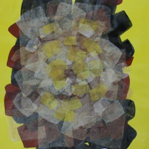 Code: 19103 Title: Transparency Series (Yellow) Size: 22 x 30 inches Medium: Mixed Media