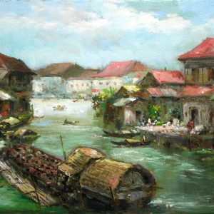 Code: 19109 Title: Pasig River Medium: Oil on Canvas Dimension: 12in x 16in