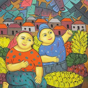 Code: 19215 Title: Mother and Child Size: 20x16in Medium: Oil on Canvas