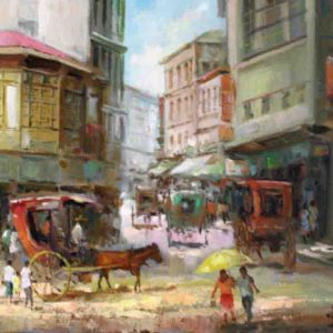 Code: 19216 Title: Soler Manila Medium: Oil on Canvas Dimension: 12in x 16in