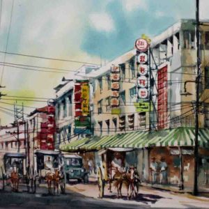 Code: 19218 Title: Old Sta. Cruz Medium: Watercolor on paper Dimension: 11in x 17in