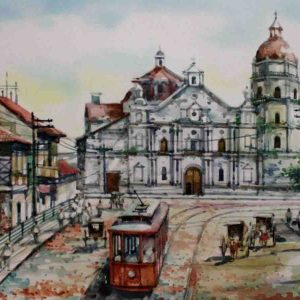 Code: 19223 Title: Manila old Binondo Chirch Medium: Watercolor on paper Dimension: 11in x 17in