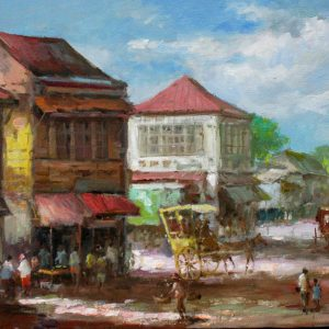 Code: 19237 Title: Tindahan Medium: Oil on Canvas Dimension: 12in x 16in