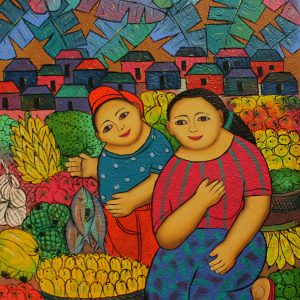 Code: 19242 Title: Vendors (Mother and Child) Size: 24x18in Medium: Oil on Canvas