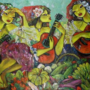 Code: 19248 Title: Tres Marias Medium: Acrylic on Canvas Dimension: 60in x 36in