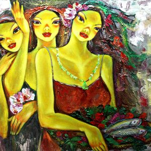 Code: 19261 Title: Tres Marias Medium: Acrylic on Canvas Dimension: 30in x 40in