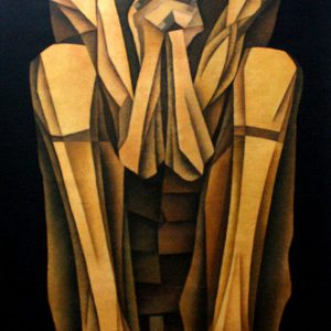 Code: 19302 Title: Seated Figure Medium: Oil on Canvas Dimension:  48 x 30 in