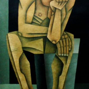 Code: 19303 Title: Seated Figure Medium: Oil on Canvas Dimension: 24in x 36in