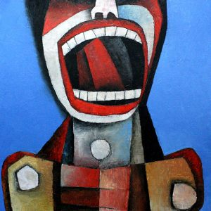 Code: 19304 Title: Screaming Figure Medium: Oil on Canvas Dimension: 20 x 14 in