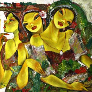 Code: 19340 Title: Tres Marias Medium: Acrylic on Canvas Dimension: 40in x 30in
