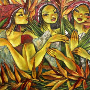 Code: 19341 Title: Tres Marias Medium: Acrylic on Canvas Dimension: 36in x 60in