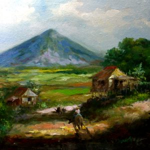 Code: 19354 Title: Mt. Mayon Medium: Oil on Canvas Dimension: 12in x 16in
