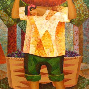 Code: 19387 Title: Mangosteen Framer Medium: Acrylic on Canvas Dimension: 12in x 17in