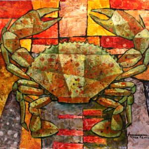 Code: 19391 Title: King Crab Medium: Acrylic on Paper Dimension: 12in x16in