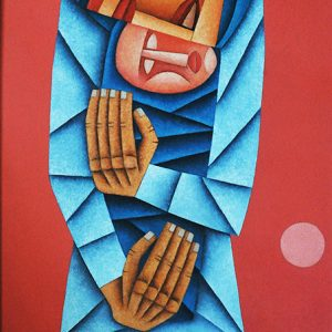 Code: 19527 Title: Mother and Child Medium: Oil on Canvas Dimension: 36 x 24 in