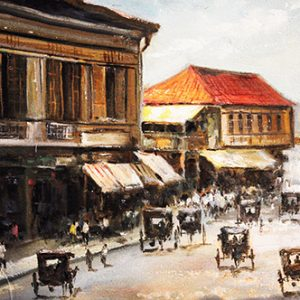 Code: 19595 Title: Busy Road in Manila Medium: Oil on Canvas Dimension: 30in x 40in