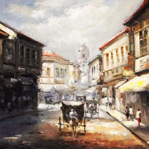 Code: 19597 Title: Old Manila Medium: Oil on Canvas Dimension: 30in x 40in