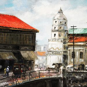 Code: 19598 Title: Old Manila Church Medium: Oil on Canvas Dimension: 30in x 40in
