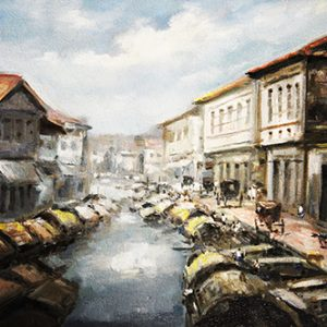 Code: 19599 Title: River Side Manila Medium: Oil on Canvas Dimension: 30in x 40in