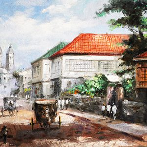 Code: 19600 Title: Old Manila Houses Medium: Oil on Canvas Dimension: 30in x 40in