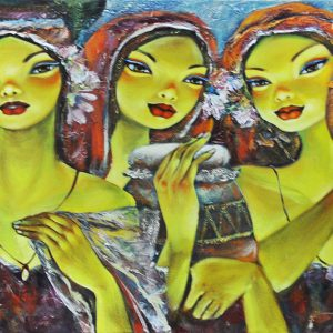 Code: 19635 Title: Tres Marias Size: 24x36in Medium: Acrylic on Canvas