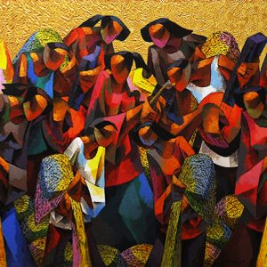 Code: 19646 Title: Rice Harvest Size: 48x96in Medium: Acrylic on Canvas