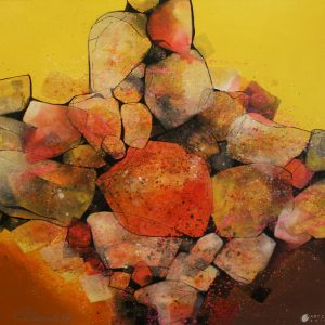 Code: 19669 Title: Rock Formation Series Size: 48x48in Medium: Mixed Media