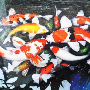Code: 19702 Title: Koi Fish Size: 30x40in Medium: Watercolor on Paper