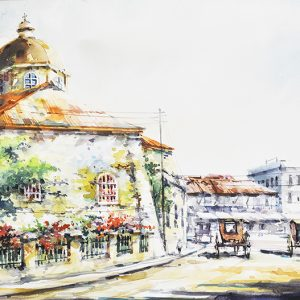 Code: 19706 Title: Sta. Cruz Church Size: 12x18in Medium: Water Color on Paper