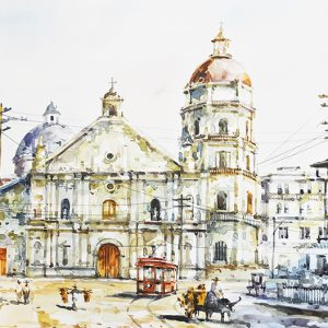 Code: 19708 Title: Binondo Church Size: 12x18in Medium: Water Color on Paper