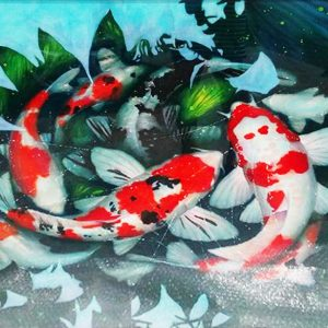 Code: 19737 Title: Koi Size: 30x40in Medium: Watercolor on Paper