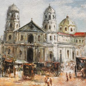 Code: 19743 Title: Quiapo Church Size: 12x16in Medium: Oil on Canvas
