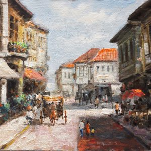 Code: 19744 Title: Vigan House Size: 12x16in Medium: Oil on Canvas